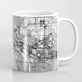 Minneapolis White Map Coffee Mug