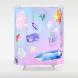 precious stones Shower Curtain