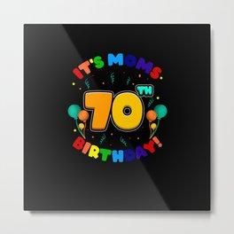 Birthday Happy Birthday Cake Cookies Gift Metal Print