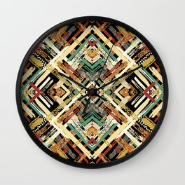 Tribal Abstracts 3 Wall Clock