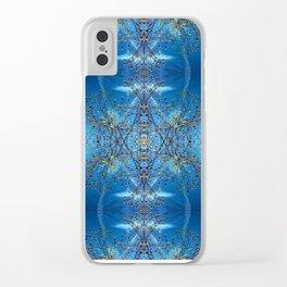 Spring bloom mandala Clear iPhone Case