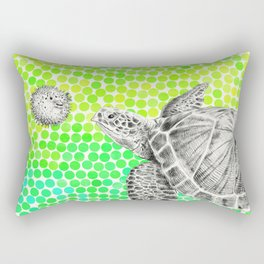 New Friends 1 by Eric Fan and Garima Dhawan Rectangular Pillow