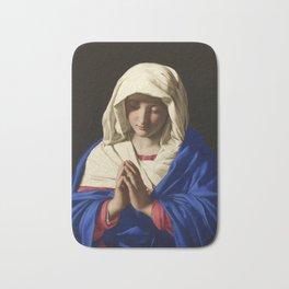 The Virgin in Prayer by Giovanni Sassoferrato (c. 1645) Bath Mat