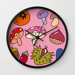 Autumn Harvest_D Wall Clock
