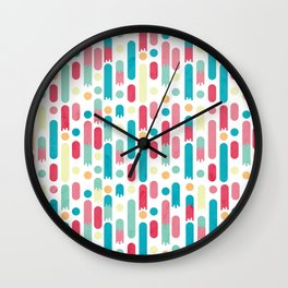 Geometric Rain Wall Clock