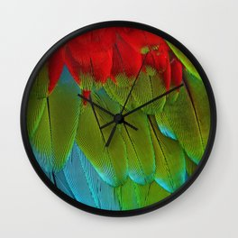 Catalina Macaw Feathers Wall Clock