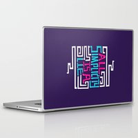 risa rodil Laptop & iPad Skins featuring All Simplicity is a Lie by Risa Rodil