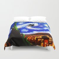starry night Duvet Covers featuring Starry Night by aleha