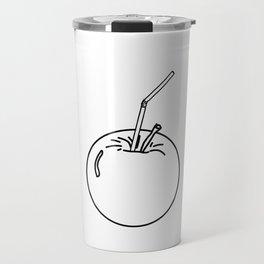 Apple and Straw Travel Mug