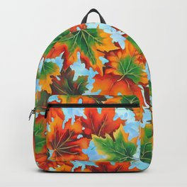 Autumn maple leaves II Backpack