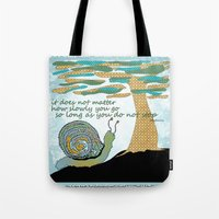 lee pace Tote Bags featuring Set Your Pace by SueOdesigns