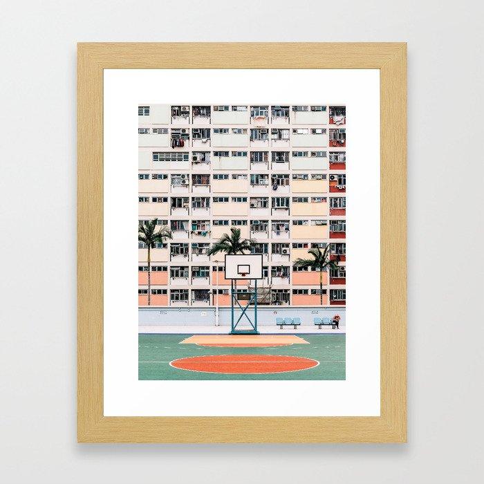 Hong Kong Rainbow Estate Framed Art Print