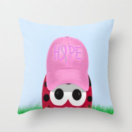 The Warrior Ladybug Throw Pillow