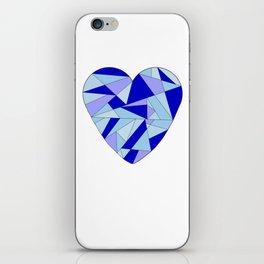 Fractal Blue Heart iPhone Skin