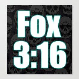 Fox 3:16 Canvas Print