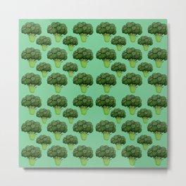 Broccoli Pattern Metal Print