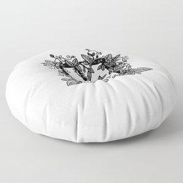 Leafy M Floor Pillow