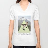 christopher walken V-neck T-shirts featuring Christopher Walken by Kalynn Burke