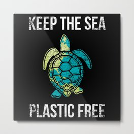 Turtle Animal Rights Activists Metal Print