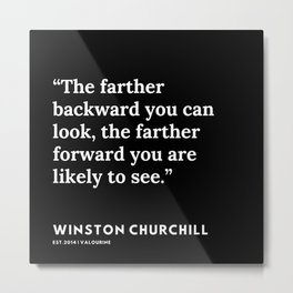 37      Winston Churchill Quotes   200530 Metal Print