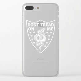 Don't Tread On Me Gadsden Snake Shield Clear iPhone Case