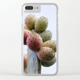 Prickly Pear Fruits Clear iPhone Case
