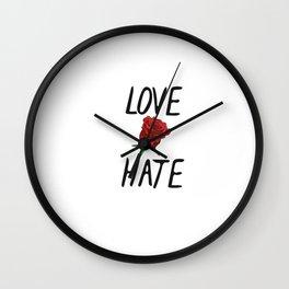 Love/Hate Wall Clock