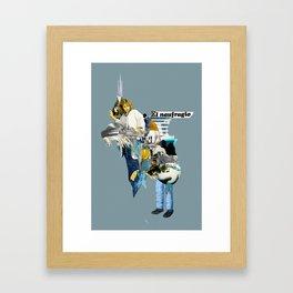 El Naufragio Framed Art Print
