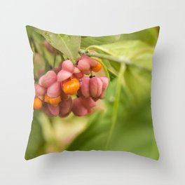 Pink and orange #2 Throw Pillow