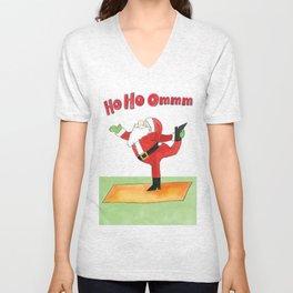 Santa Yoga Shirt Unisex V-Neck