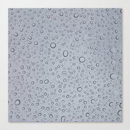 Rainy Day Water Drops Canvas Print