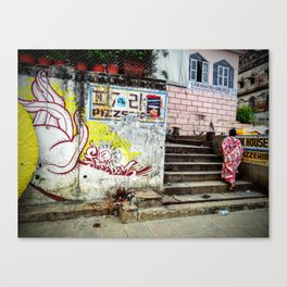 Varanasi Streets Canvas Print