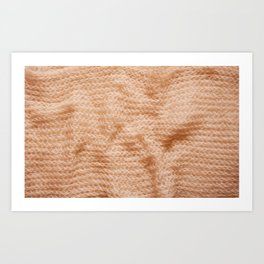 Beige fluffy knitted fabric texture abstract Art Print