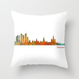 Moscow City Skyline art HQ v1 Throw Pillow