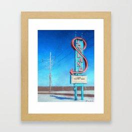 Vintage Neon Sign - Joyland Framed Art Print