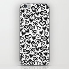 MESSY HEARTS: BLACK iPhone Skin