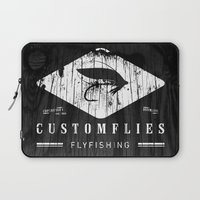 custom Laptop Sleeves featuring Custom Flies by Kristian Boserup