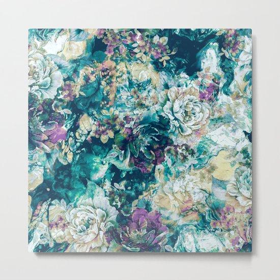 Frozen Flowers Metal Print