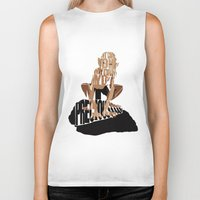 lord of the rings Biker Tanks featuring Gollum / Smeagol - The Lord of the Rings by Ayse Deniz
