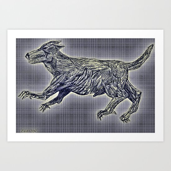 20110825 _2 _DOG _GIMP Art Print