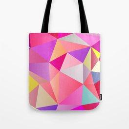 Pink Polygons Tote Bag