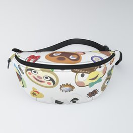 animal crossing cute villagers Fanny Pack