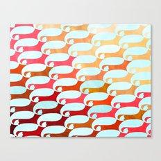 Blue Whale & Red Fox Canvas Print