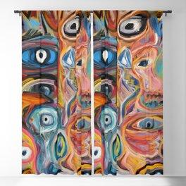 Street Art Brut Vector Graffiti Eyes Blackout Curtain