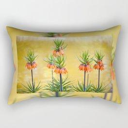 Orange lily flowers Fritillaria imperialis Rectangular Pillow