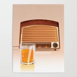 Radio & Whiskey Poster