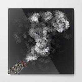 Sketchy Smoking Metal Print