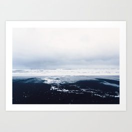 Reynisfjara Black Sand Beach, Vik, Iceland Art Print