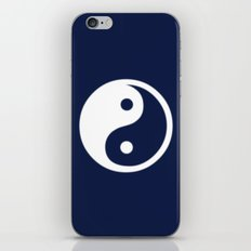 Indigo Navy Blue Yin Yang iPhone Skin