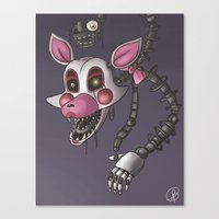 fnaf Canvas Prints featuring FNAF - The Mangle by msaibee